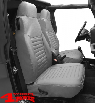 Seat Covers Front Gray Denim Bestop Wrangler TJ Year 97 02