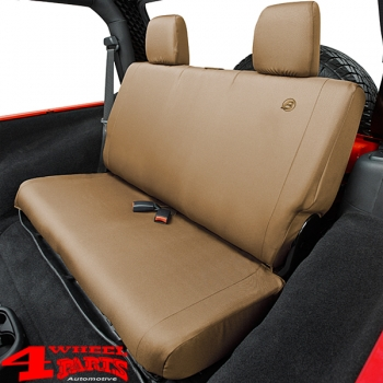 Seat Cover Rear Tan Denim Bestop Wrangler JK year 08-12 4-doors