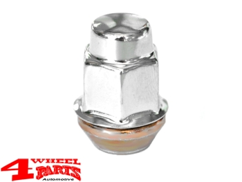 "Wheel Lug Nut Stainless Steel Chrome for Steel or Alu Wheels 1/2"" Jeep"