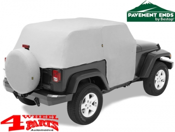 Trail Cover Pavement Ends Jeep Wrangler JK year 07-18 2-doors