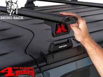 Overhead Rhino Rack Mounting Kit + Vortex Bars Black JK year 07-18 2-doors