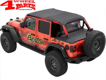 Safari Header Bikini Top Black Diamond Wrangler JL year 18-20 4-doors