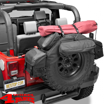"Spare Tire Organizer in Black Diamond 34 - 37"" Jeep year 76-20"