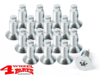 Windshield Hinge Screw Set 16 pce. CJ + Wrangler YJ TJ year 76-06