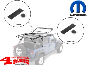 Soft Top Side Bow Foam Tape Kit Wrangler JK year 11-18 4-doors