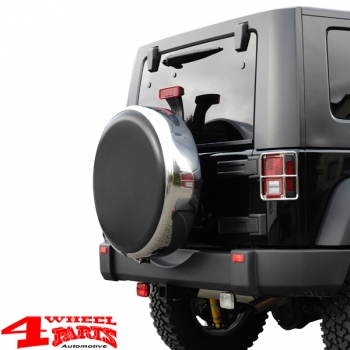 Tire Cover Stainless Steel lockable Jeep Wrangler JK year 07-18