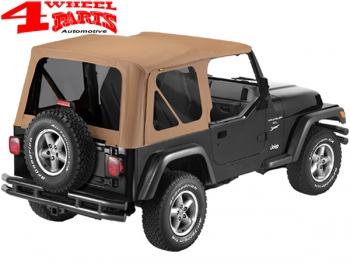 Replacement Soft Top Spice Sailcloth tinted Windows Wrangler TJ year 97-02