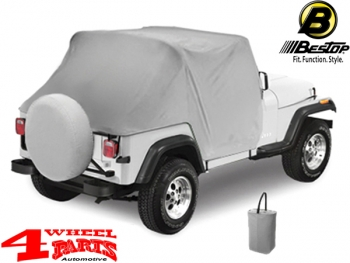 764f9ca980f 4 Wheel Parts | Trail Cover from Bestop Charcoal Denim Jeep CJ + ...