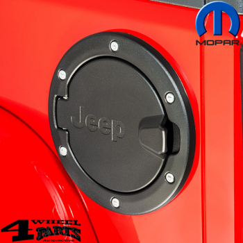 Gas Hatch Cover Black matt with Jeep Logo  Wrangler JK year 07-18