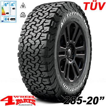 Aluminum Wheel 8,5x20 ET +18 Atrax + Tire 285/55 R20 AT JK 07-18