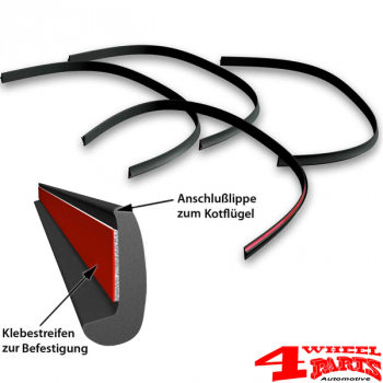 Fender Flares 4 Piece Universal 6mm wide universal flexible street legal