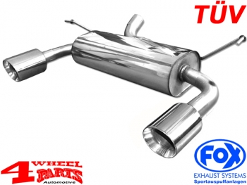 Sport Stainless Steel Muffler Round with TÜV Wrangler JK 07-18 CRD + 6 Cyl.