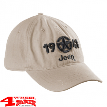 "Base Cap 1941 Jeep Star embroidery in ""Light Sand"""