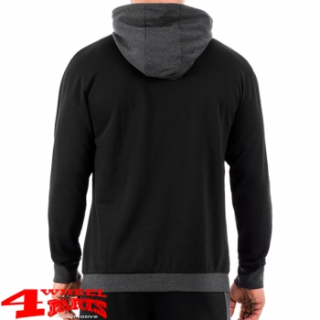 Sweatshirt mit Kapuze mit Jeep Aufdruck in Black Grey Melange