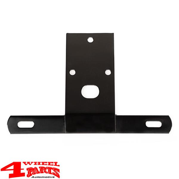 Omix-Ada 11136.03 Black Steel License Plate Bracket for 76-86 Jeep CJ5 /& CJ7