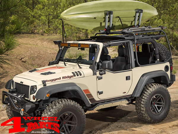 Rugged Ridge 17759.09 Black Performance Hood Vent for Jeep JK Wrangler