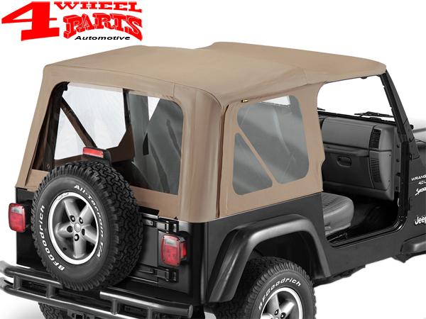Jeep Wrangler Soft Top >> Replacement Soft Top Dark Tan Denim Jeep Wrangler Tj Year 97 02