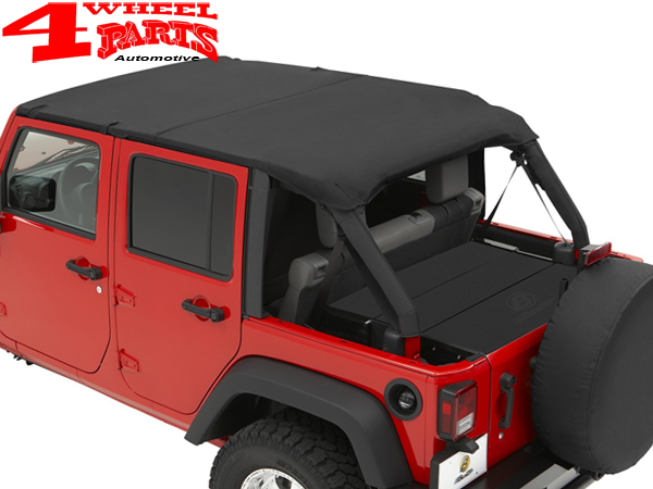 Great Safari Header Bikini Top Black Diamond Wrangler JK Year 07 09 4 Doors