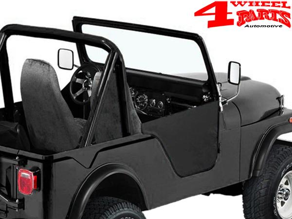 Half Doors Pair Black Crush Bestop Jeep CJ5 + CJ6 + M38A1 year 55-75 & Half Doors Pair Black Crush Bestop Jeep CJ5 + CJ6 + Willys M38A1 ...