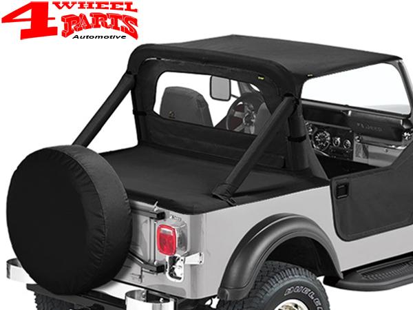 Bikini Top schwarz Strapless Verdeck Jeep Wrangler YJ Bj 87-91