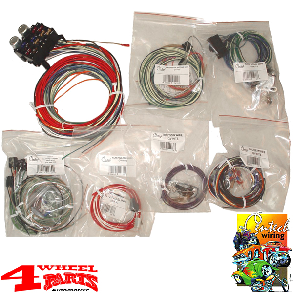 wiring universal harness from centech jeep cj year 55-86 | 4 wheel parts  4 wheel parts