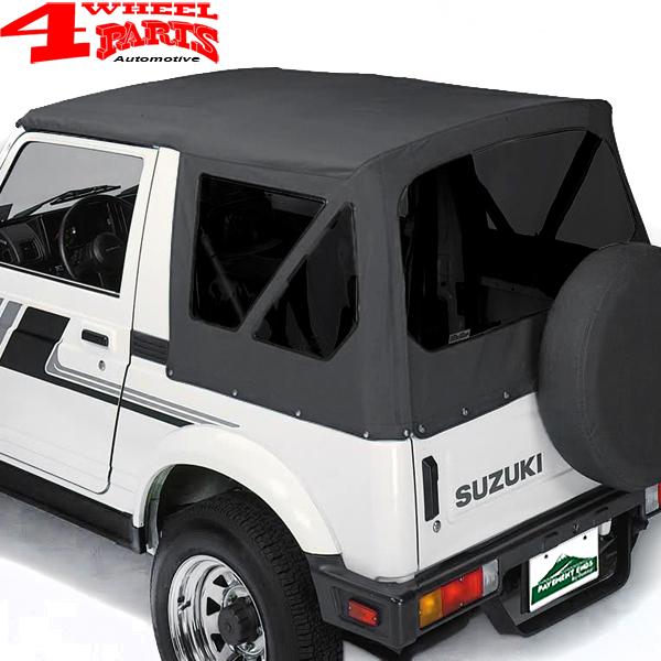 mit getönten Scheiben getönt Verdeck Top schwarz Suzuki Samurai SJ 410 413 NEU