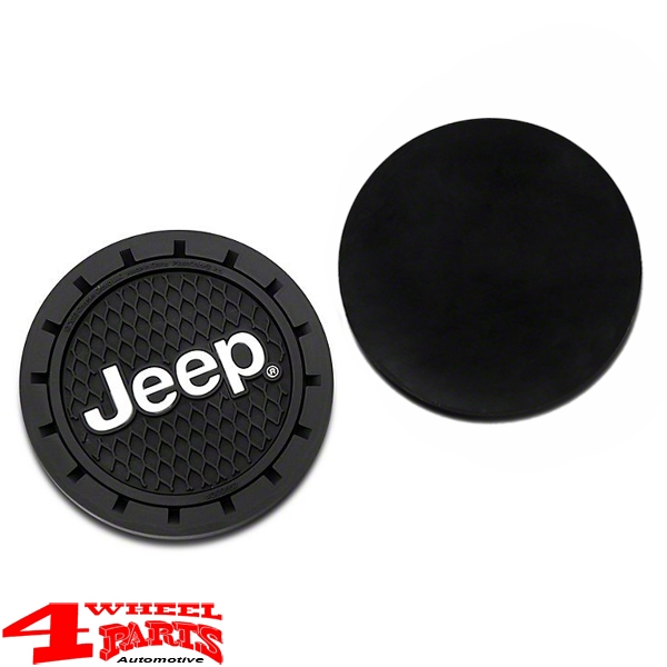 "Cup Holder Coaster from PVC with ""Jeep Logo"""