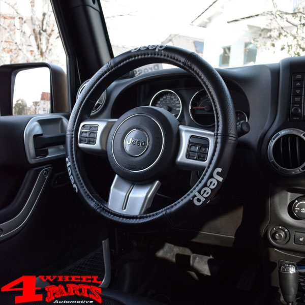 "Elite Series Steering Wheel Cover Black with ""Jeep"" Logo"
