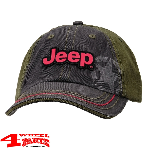 "Base Cap Jeep ""Black Olive"" Stone Washed from Mopar"