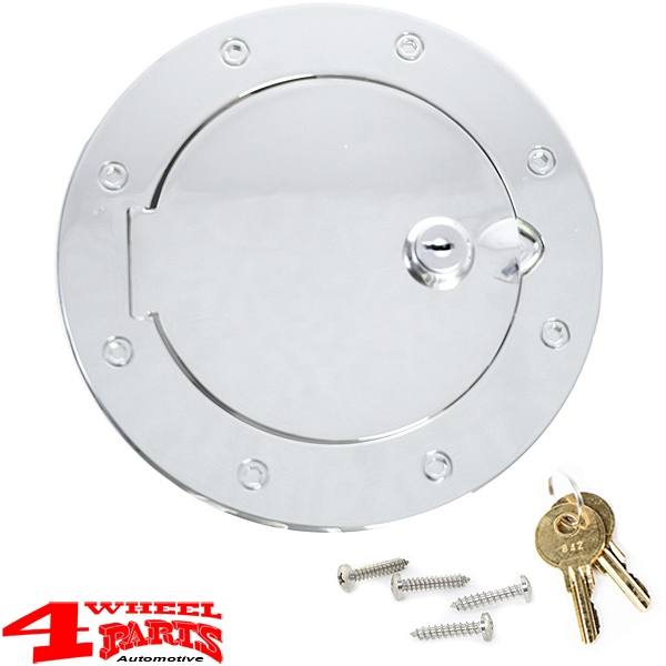 Gas Hatch Cover Locking Stainless Steel Wrangler JK year 07-18