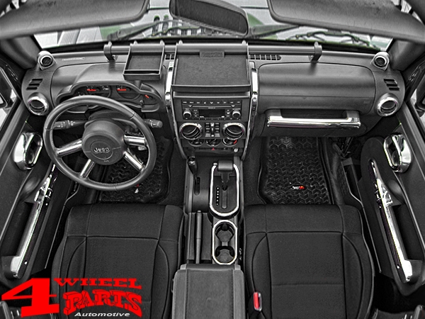 Chrome Dash Accent Cover 2 pce. Wrangler JK year 07-10
