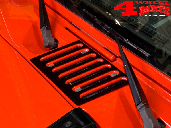 Hood Vent Cover Black powder coated Wrangler JK year 07-18