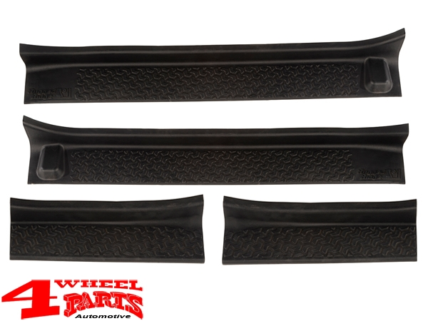 Entry Guard Set 4 pce. Black Thermoplastic Wrangler JL 18-19 4-doors