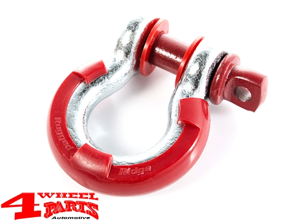 D-Rings Isolator Kit Red for Ø 19mm Ring Ø 22mm Bolt