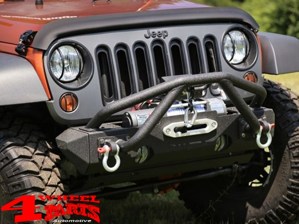 Wrap Around Bug Shield Matte Black Jeep Wrangler JK year 07-18