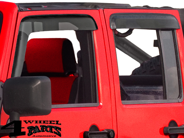 Rain Deflector Set 4 pce. Smoke Wrangler JK year 07-18 4-doors