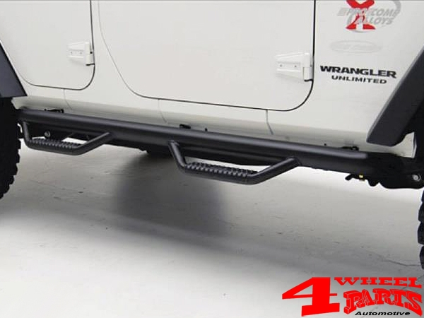 Side Nerf Bar Kit  Spartan Ø 75mm textured Wrangler JK year 07-18 4-doors