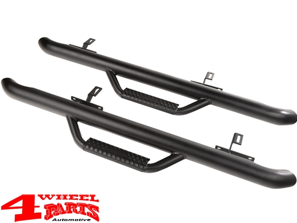 Side Nerf Bar Kit Spartan Ø 75mm textured Wrangler JL year 18-19 2-doors