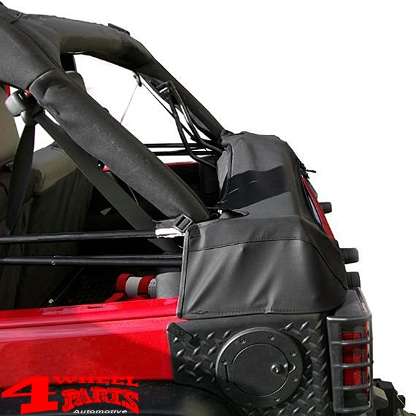 Soft Top Storage Boot in Black Diamond Wrangler JK year 07-18 4-doors