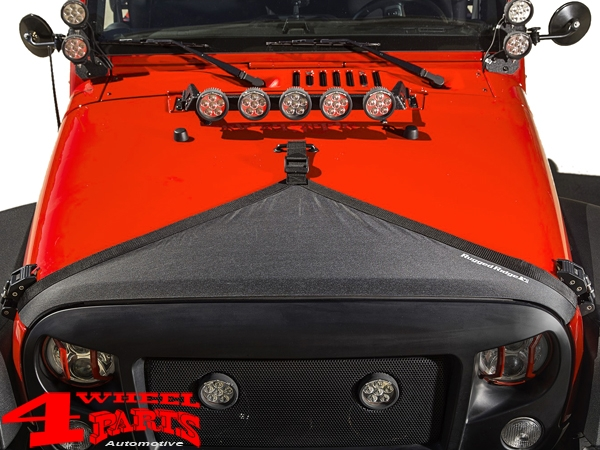 Hood Bra Cover Black Jeep Wrangler JK year 07-18
