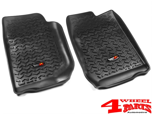 Floor Liner Set Front Black Jeep Wrangler JK year 07-13