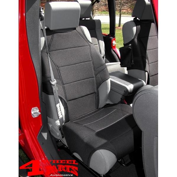 Jeep Wrangler Seat Covers >> Seat Covers Front Vests Pair Neoprene Black Wrangler Jk Jl Year 07 20