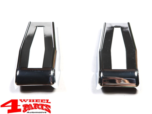 Hardtop Tailgate Hinge Covers Chrome 2 pce. Wrangler JK year 07-18