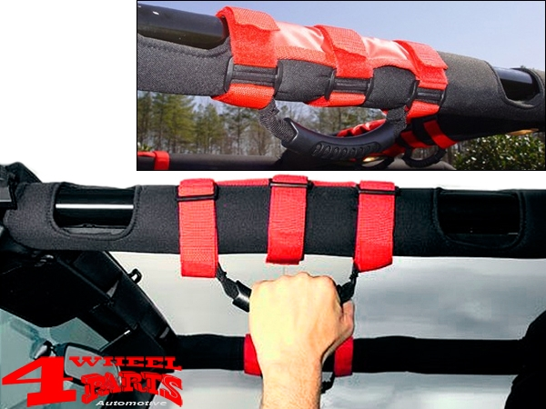 Grab Handles Pair Red Sport Bar Jeep year 76-20