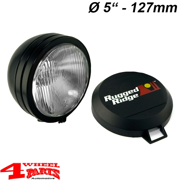 "Additional Floodlight HID Offroad Light Black Steel 5""Ø 35W 1-pce."