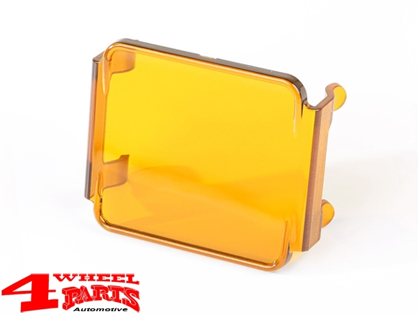 LED Headlamp Protection Cover square 8x7,5cm Amber