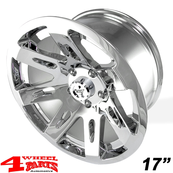 Aluminum Wheel 9x17 ET -12 XHD chrome polished Wrangler JK year 07-18