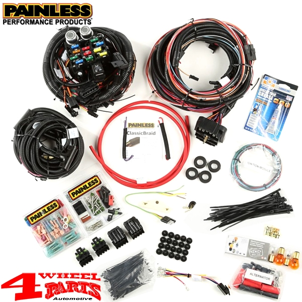 wiring replacement factory style harness from painless jeep cj year 76-86 |  4 wheel parts  4 wheel parts