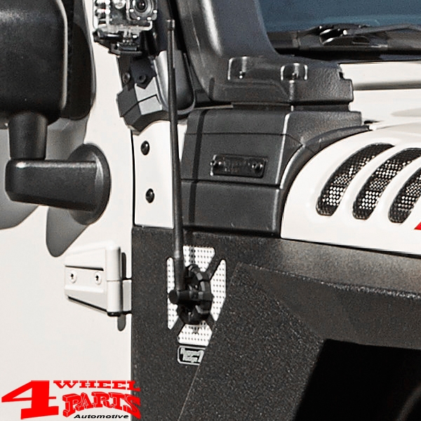 Elite Antenna Base Black Jeep Wrangler JK JL year 07-19