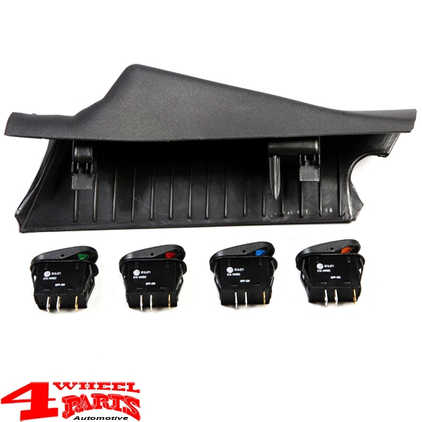 Switch Pod Kit A-Pillar incl. 4 Switches Right Wrangler JK year 11-18
